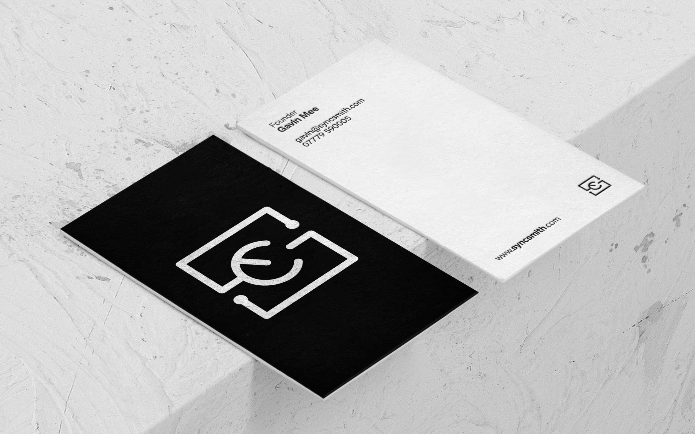 business card design white and black