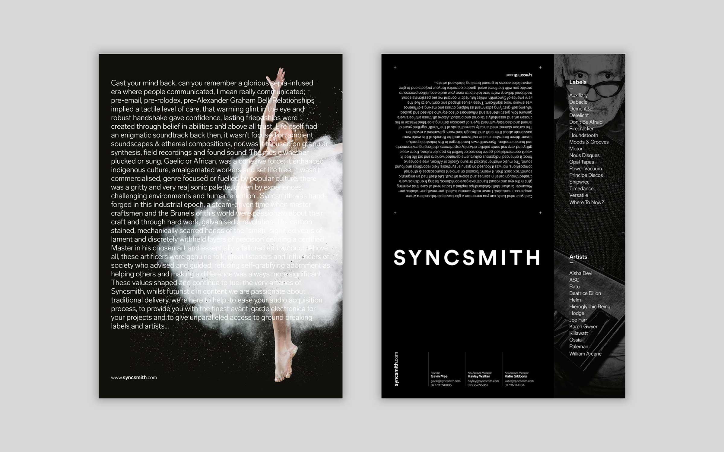 poster design for Bristol experimental label