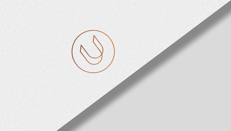 monogram gold letterhead logo foiling