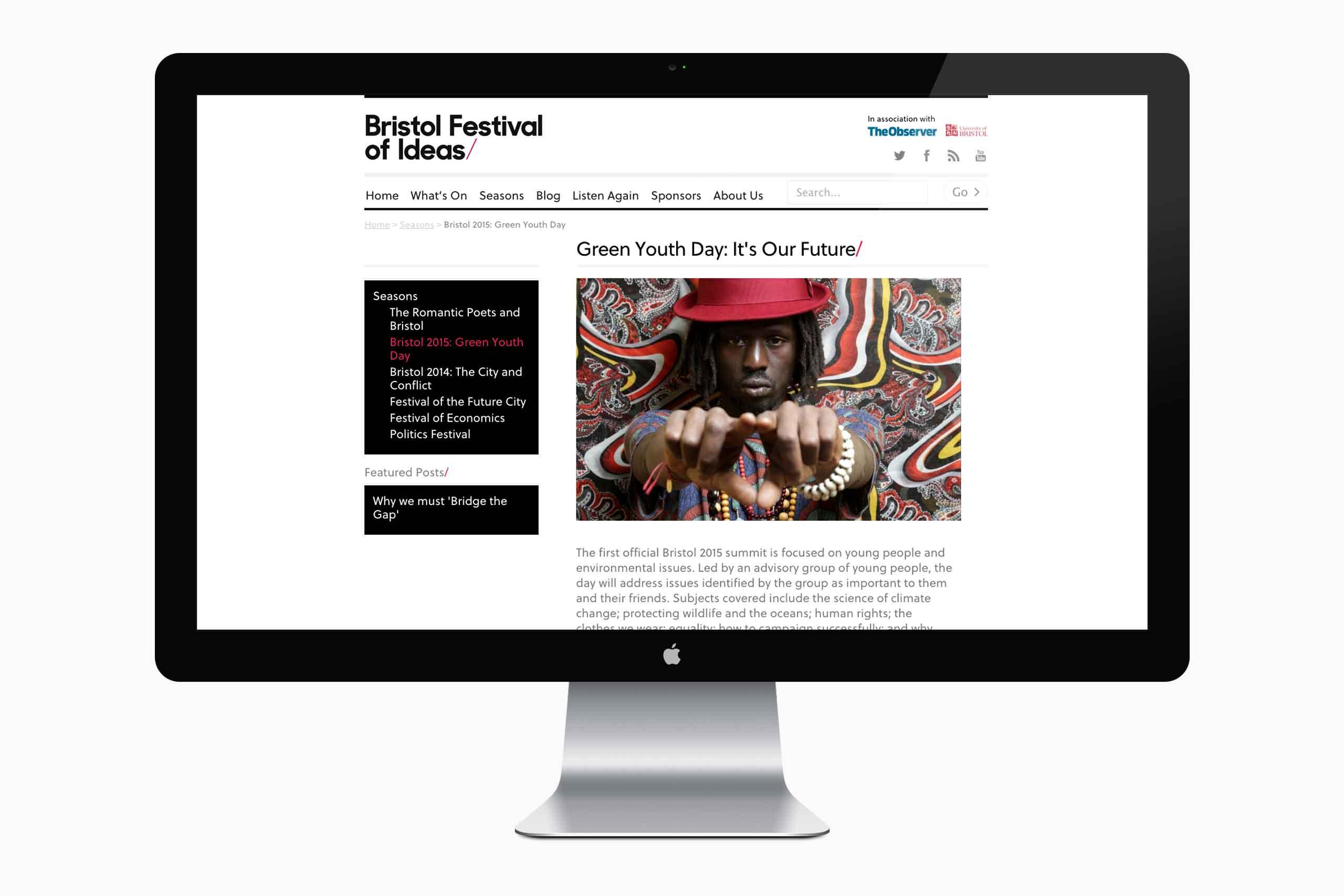 website design bristol festival of ideas