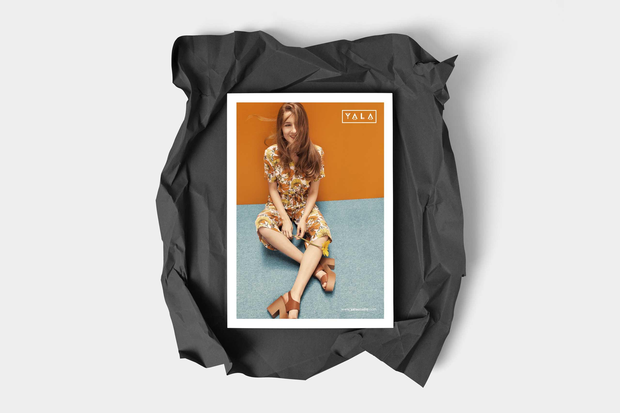 yala flyer design for fashion brand