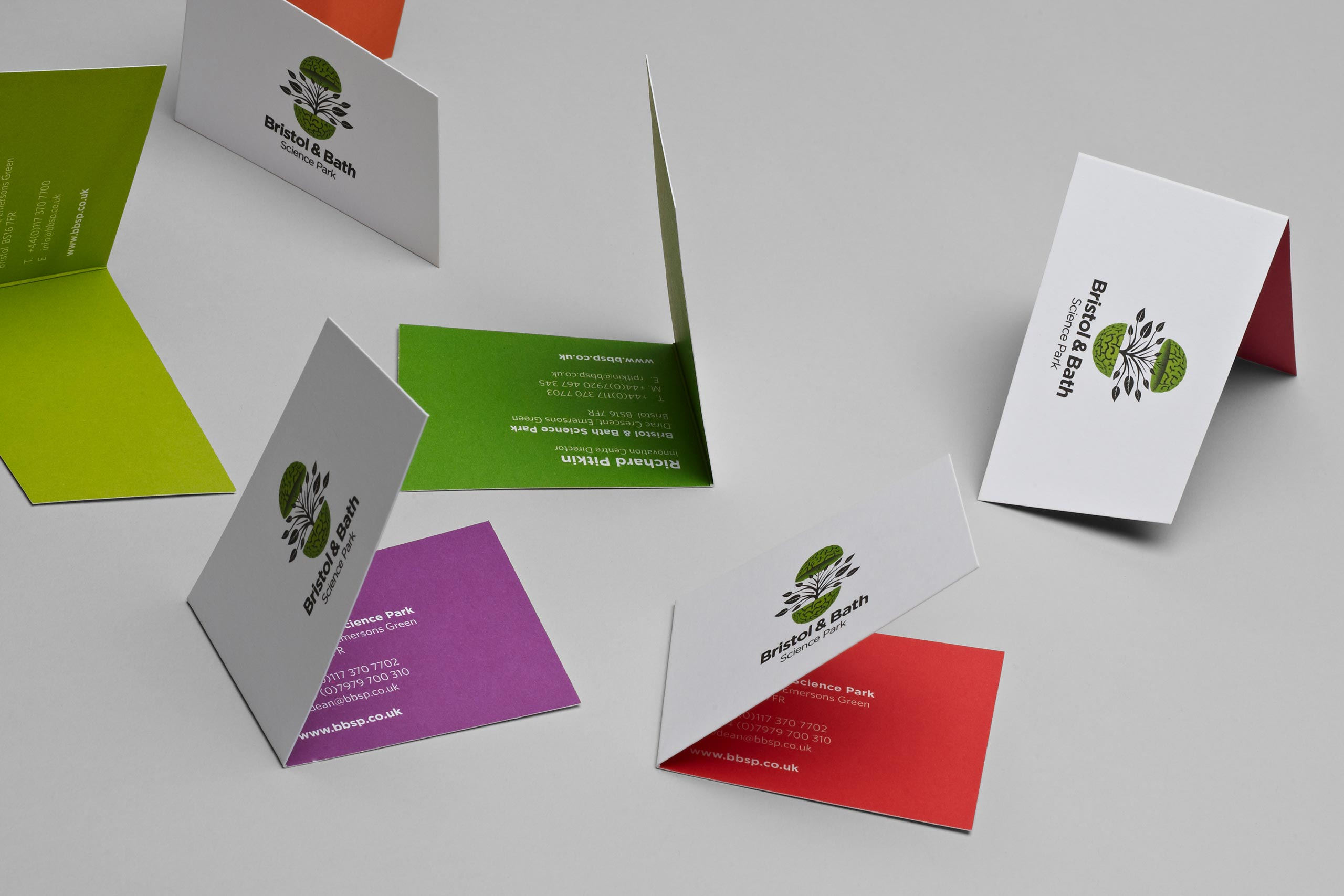 business card for bristol bath science park