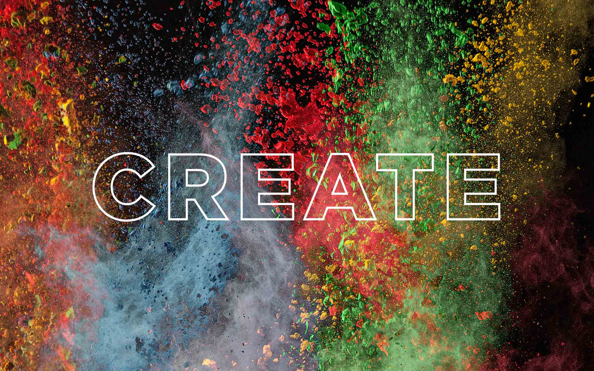 create colourful explosion