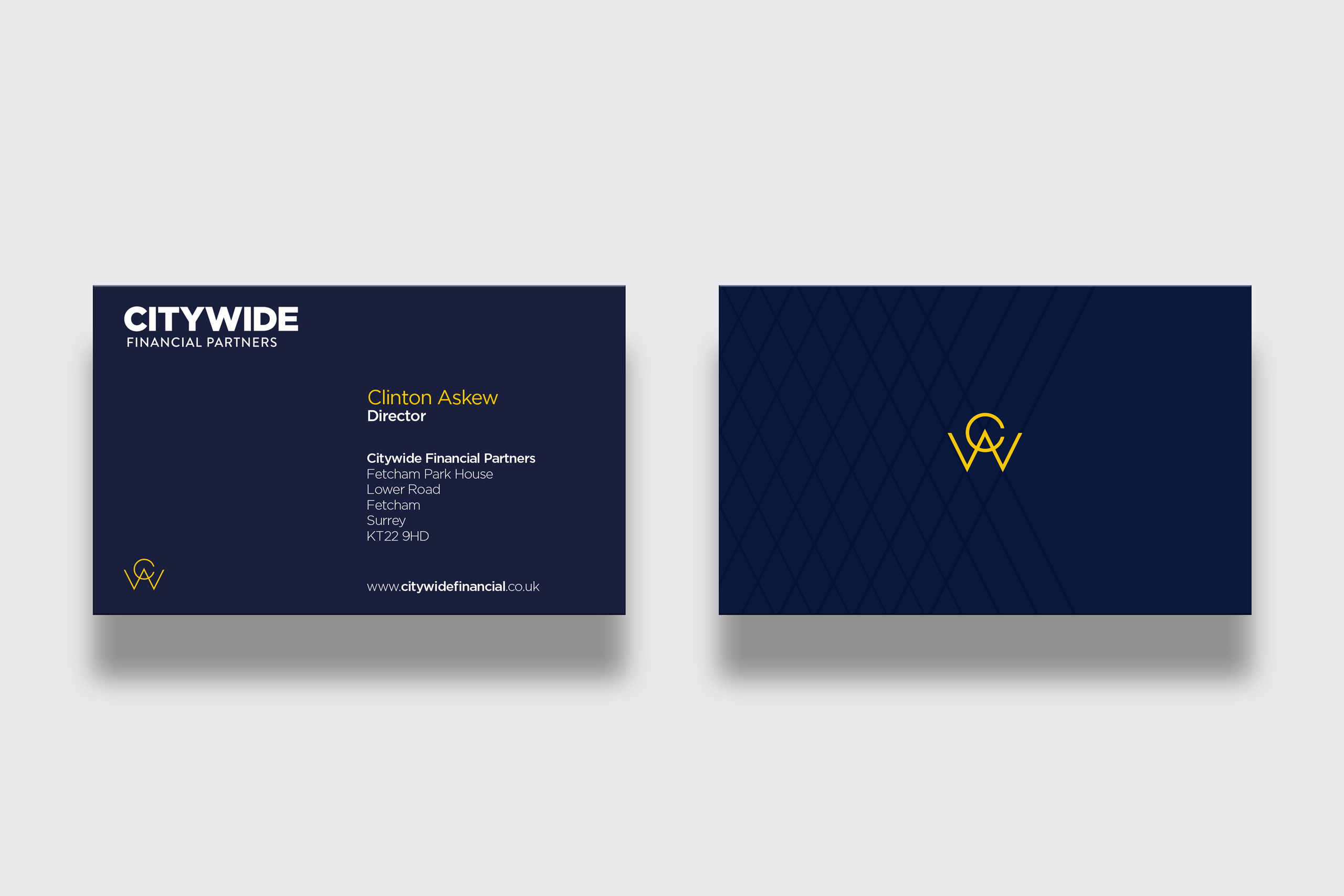 Business card design financial citywide