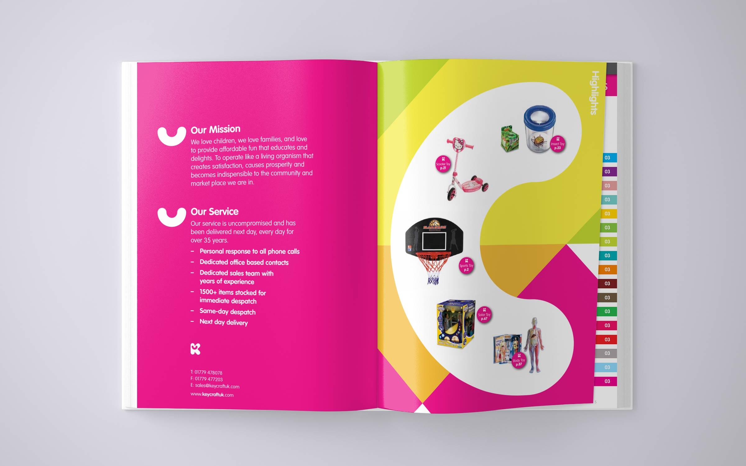 brochure design for keycraft toy