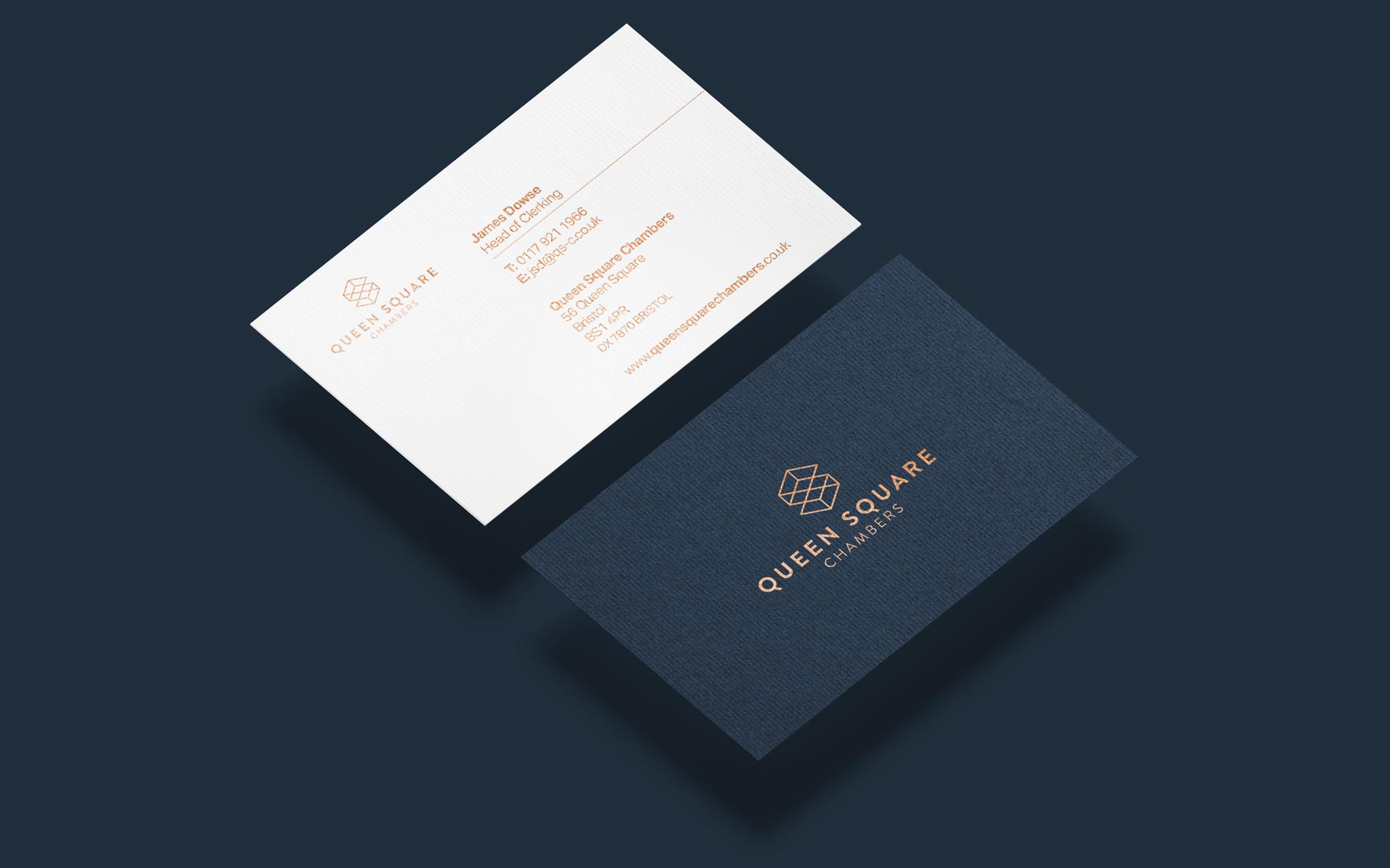 Legal business card branding