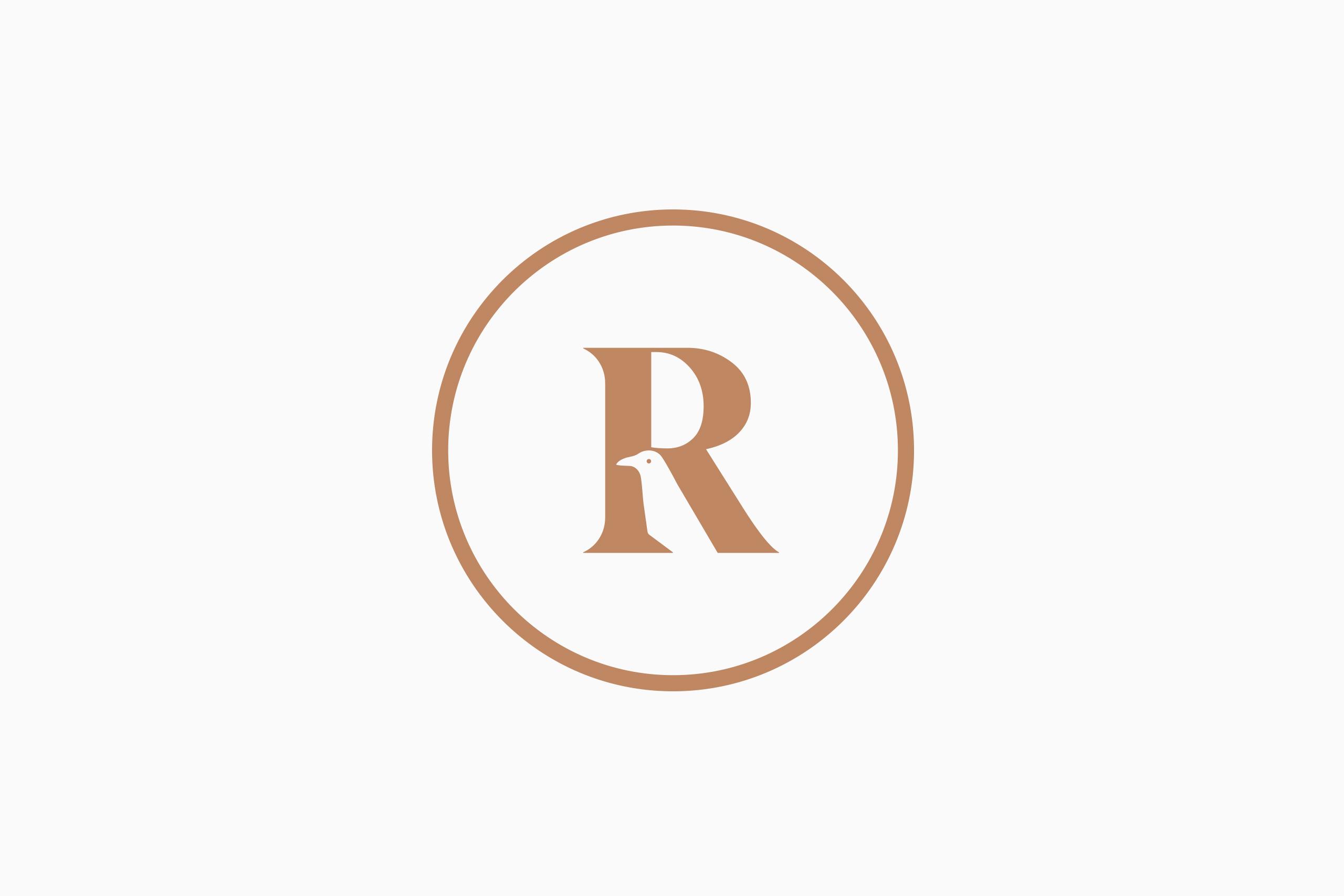 Monogram branding raven frames