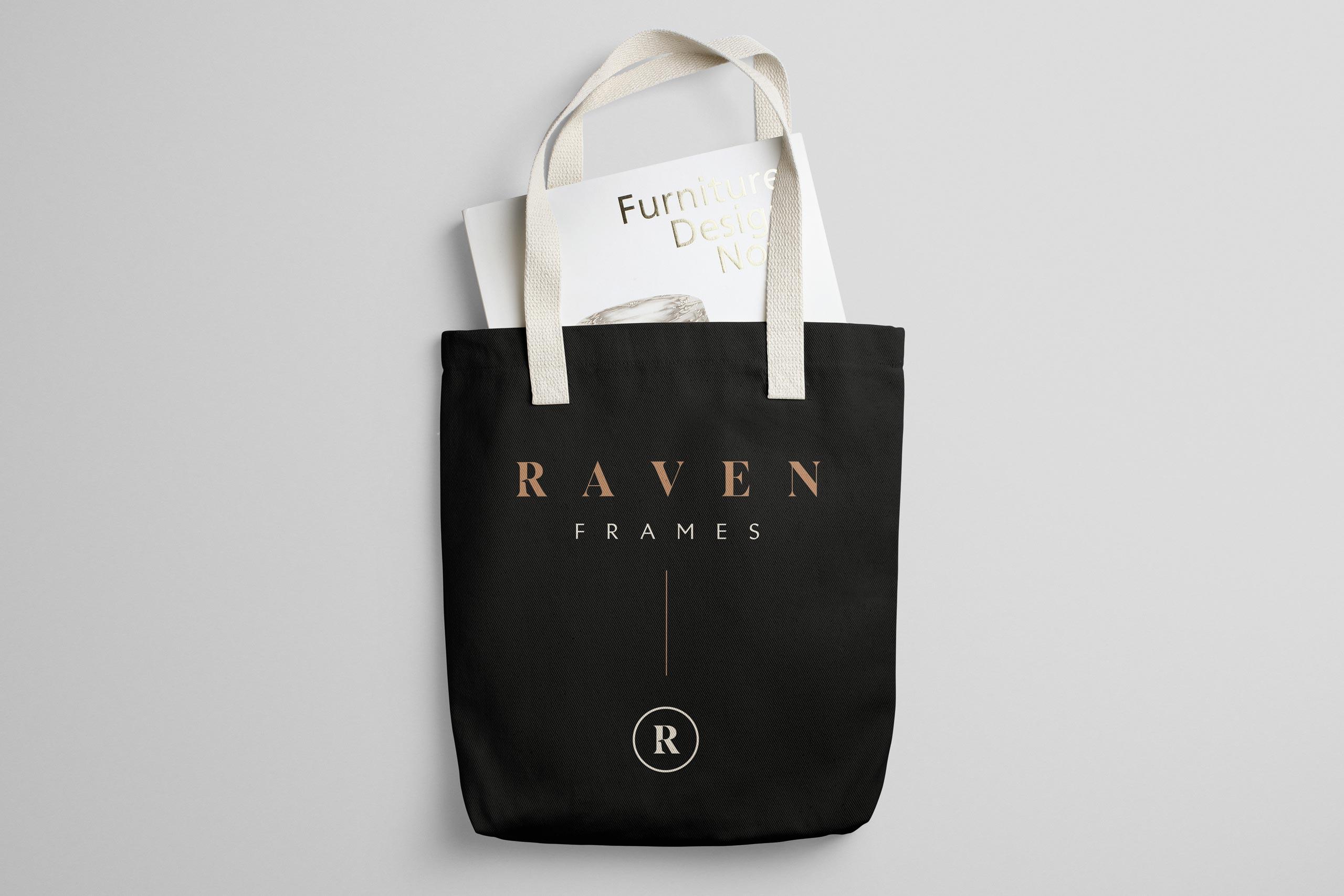 Bag graphic design for raven frames
