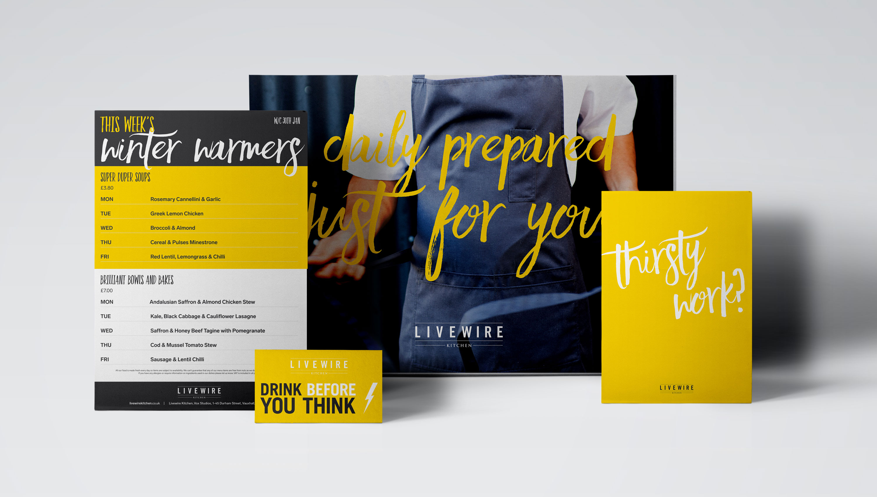 Colourful brand work Livewire Kitchen