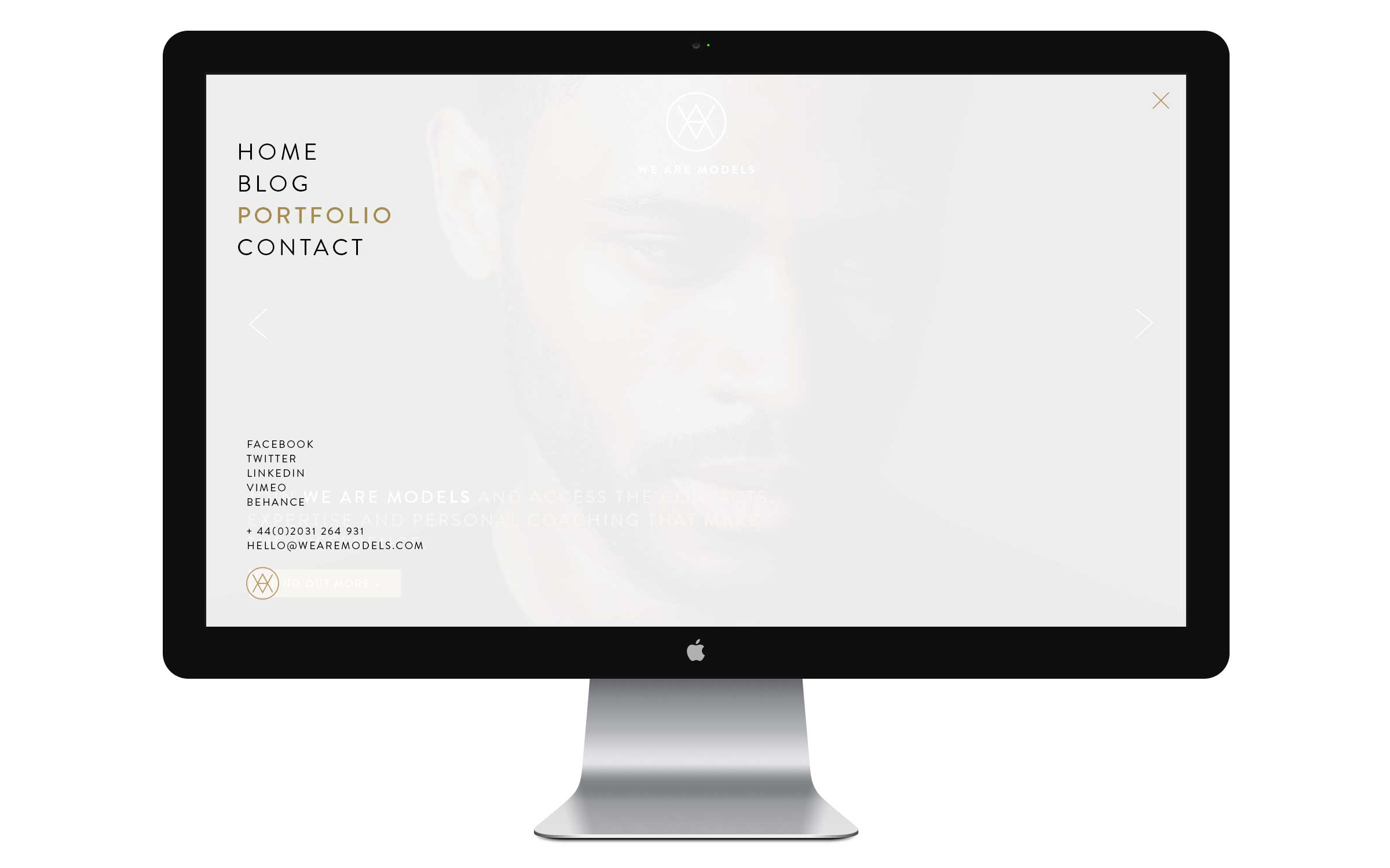 website design for london fashion agency