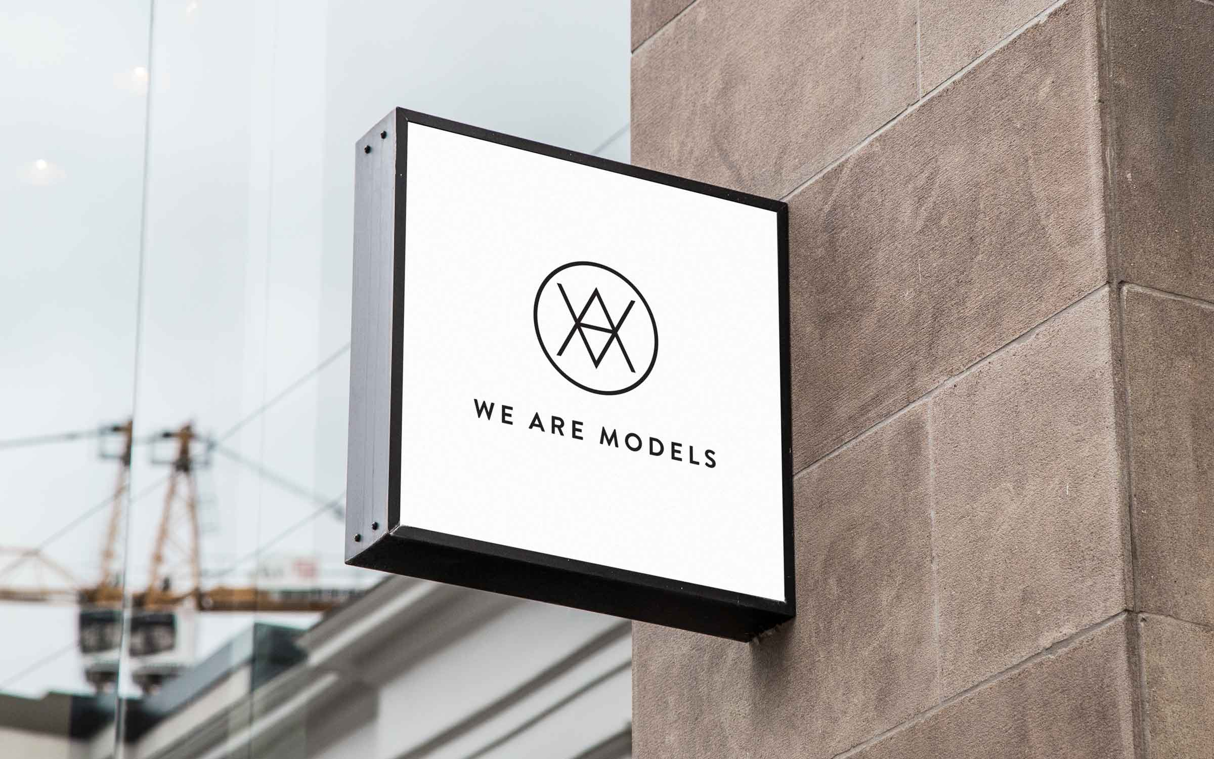 london signage for model agency