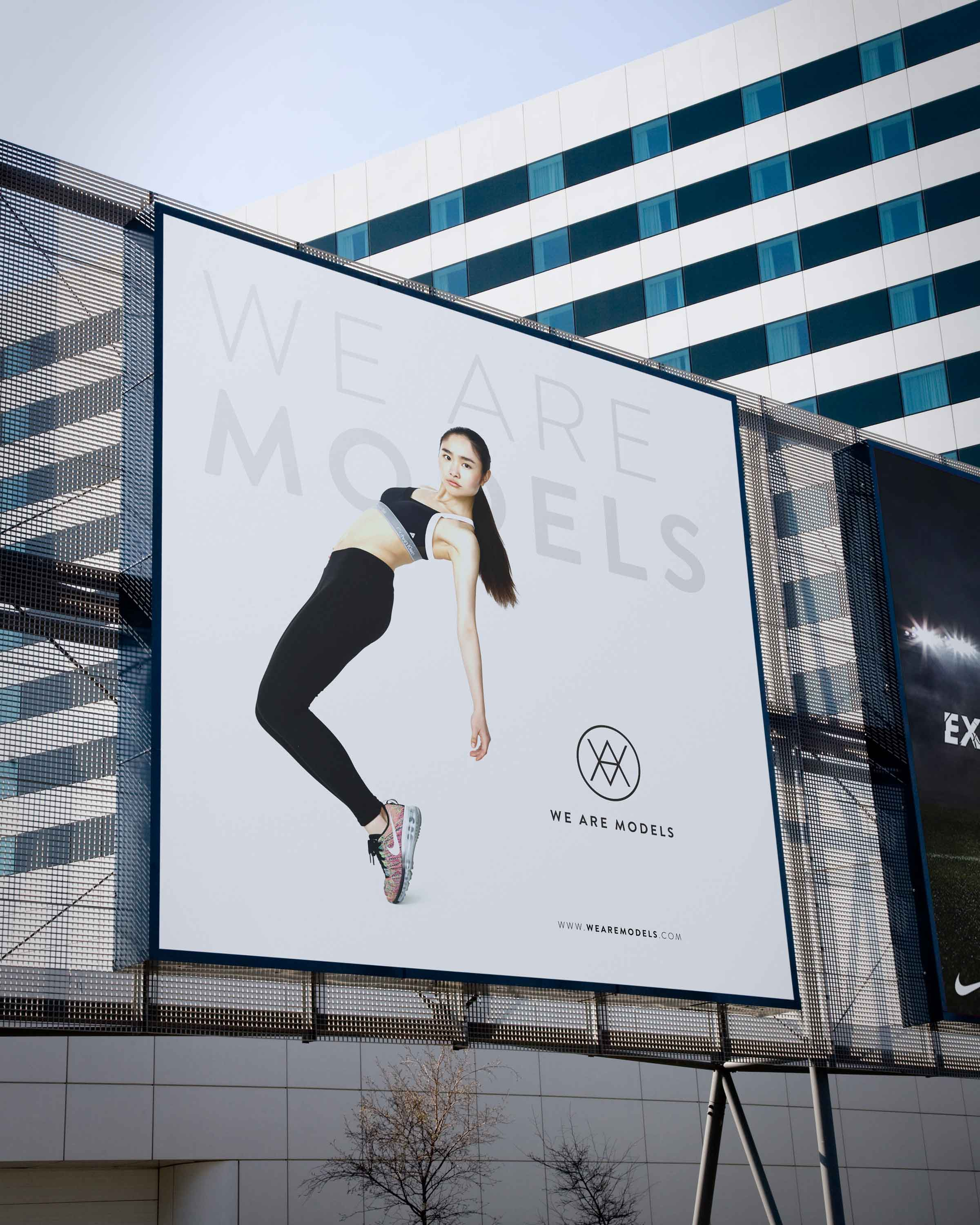 billboard poster for london fashion brand