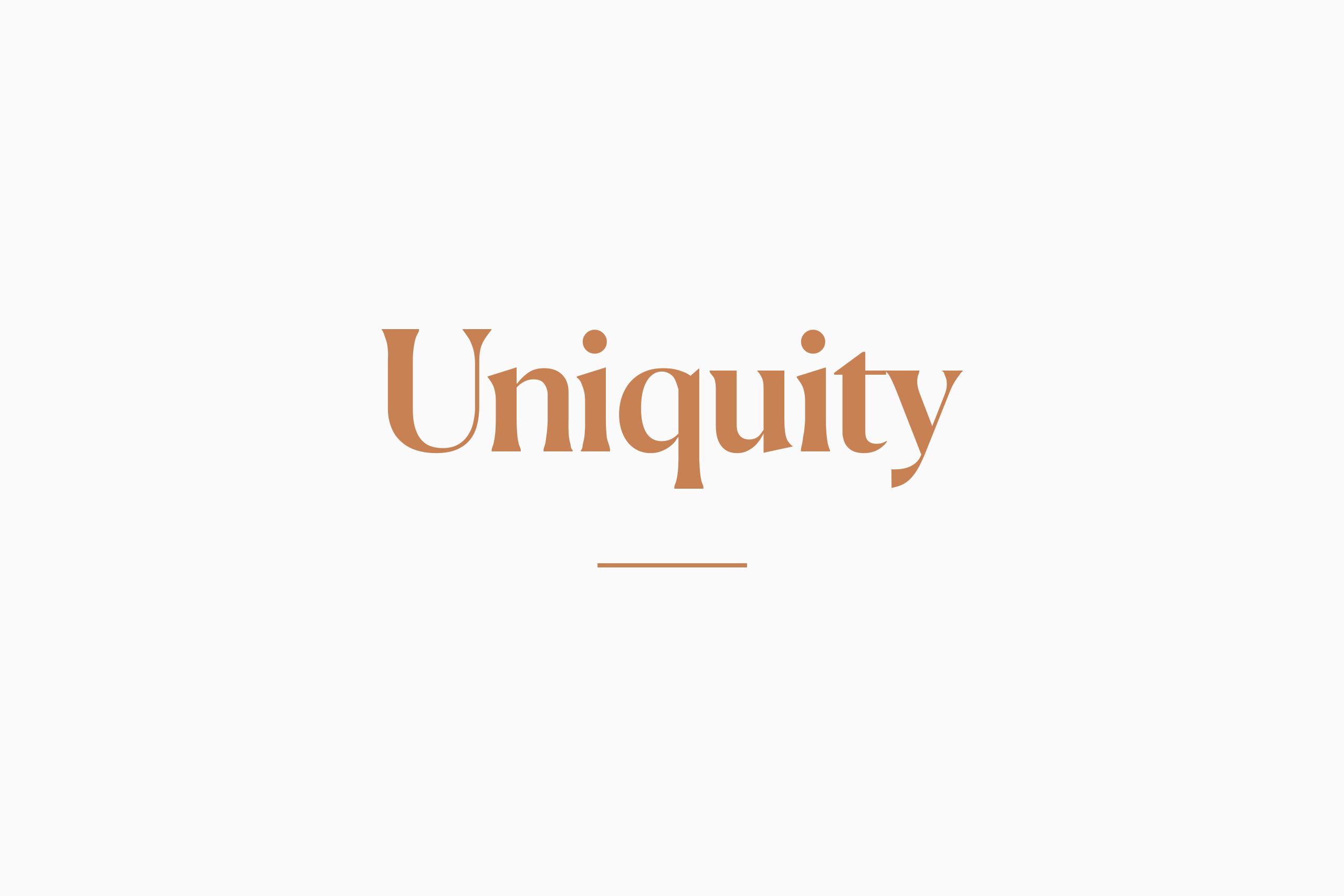 foiling logo uniquity