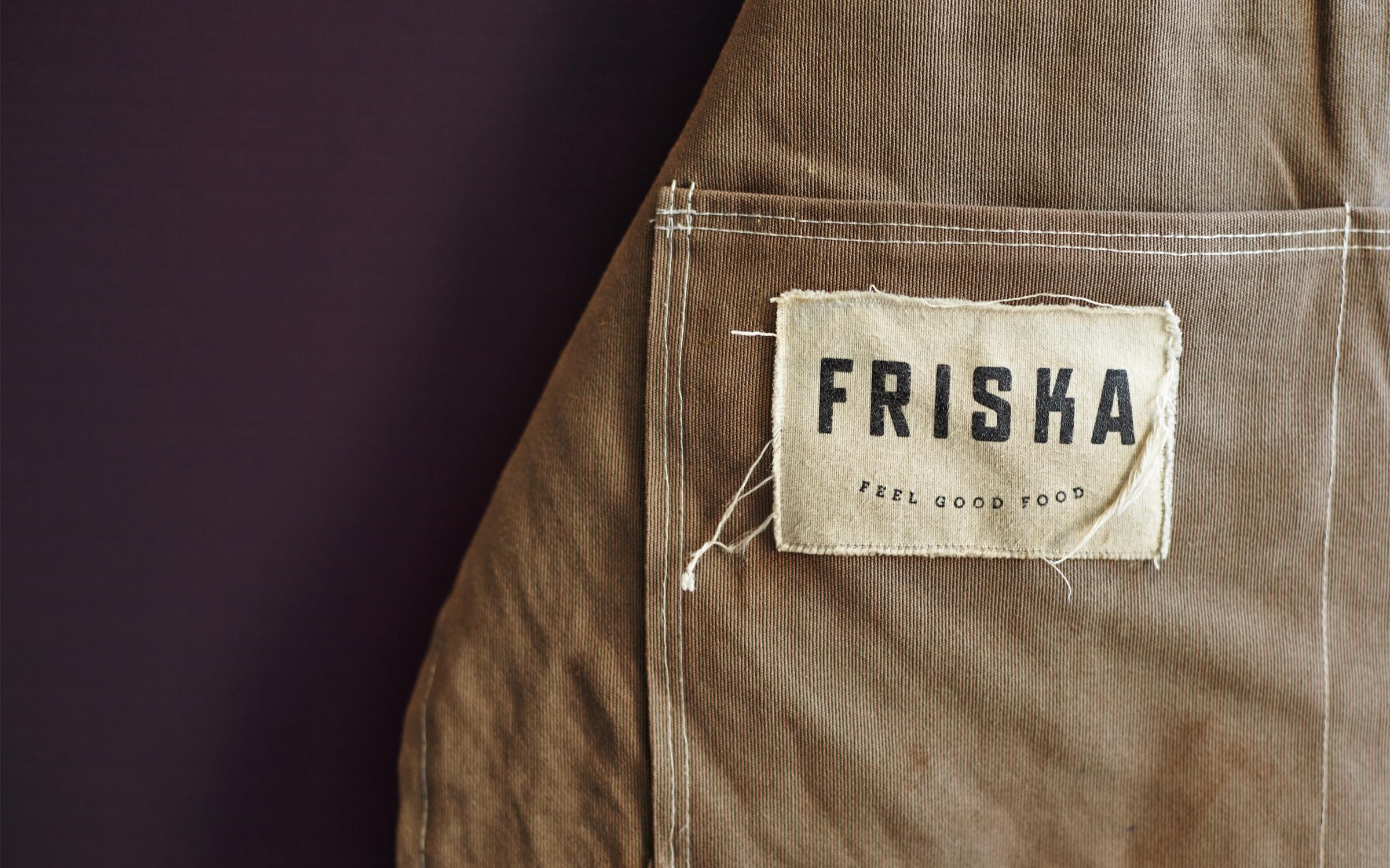 friska logo apron branding