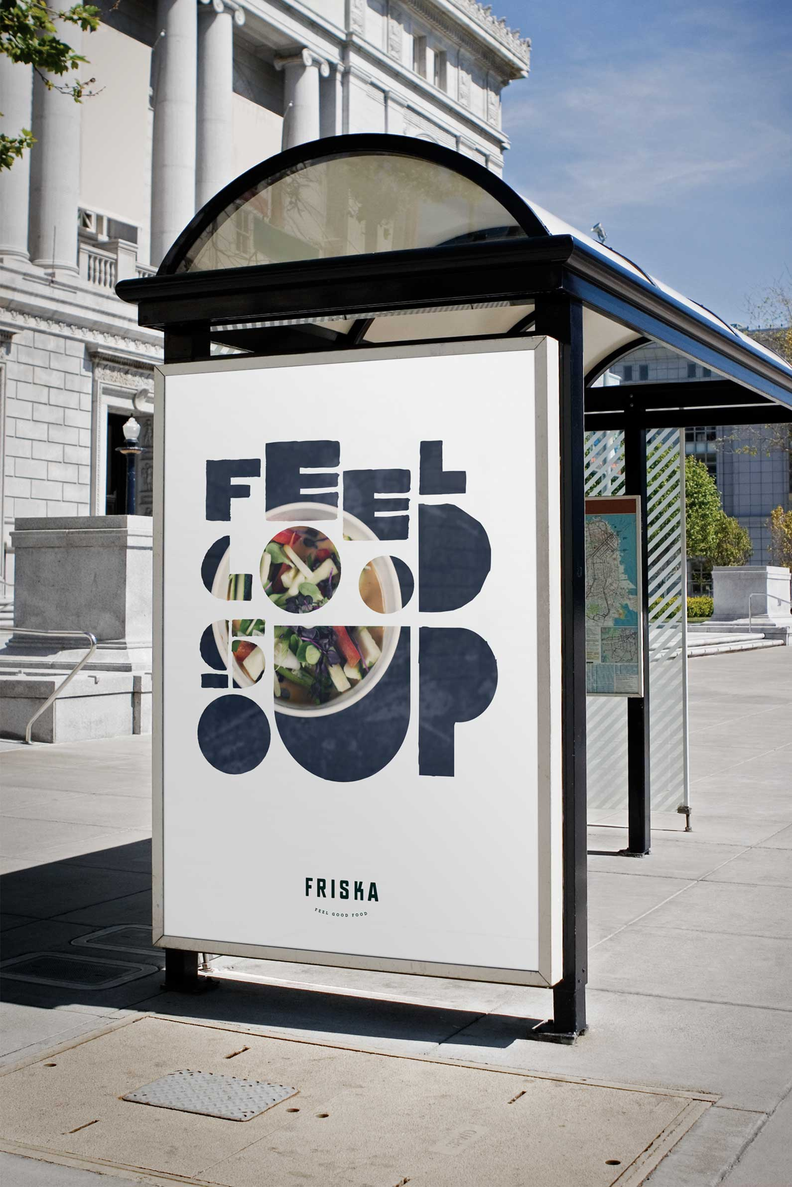 outdoor signage friska food