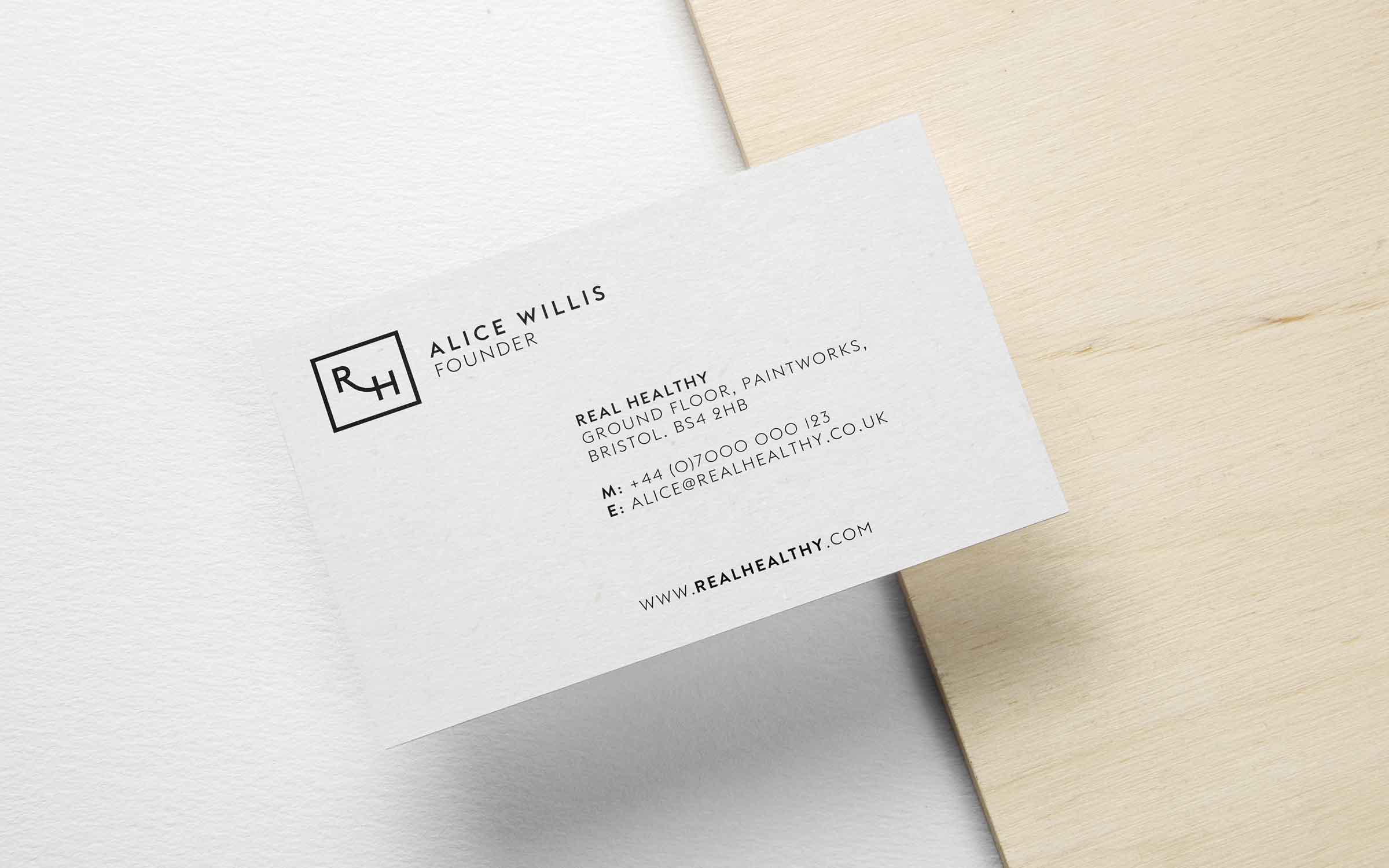 business card design for real healthy