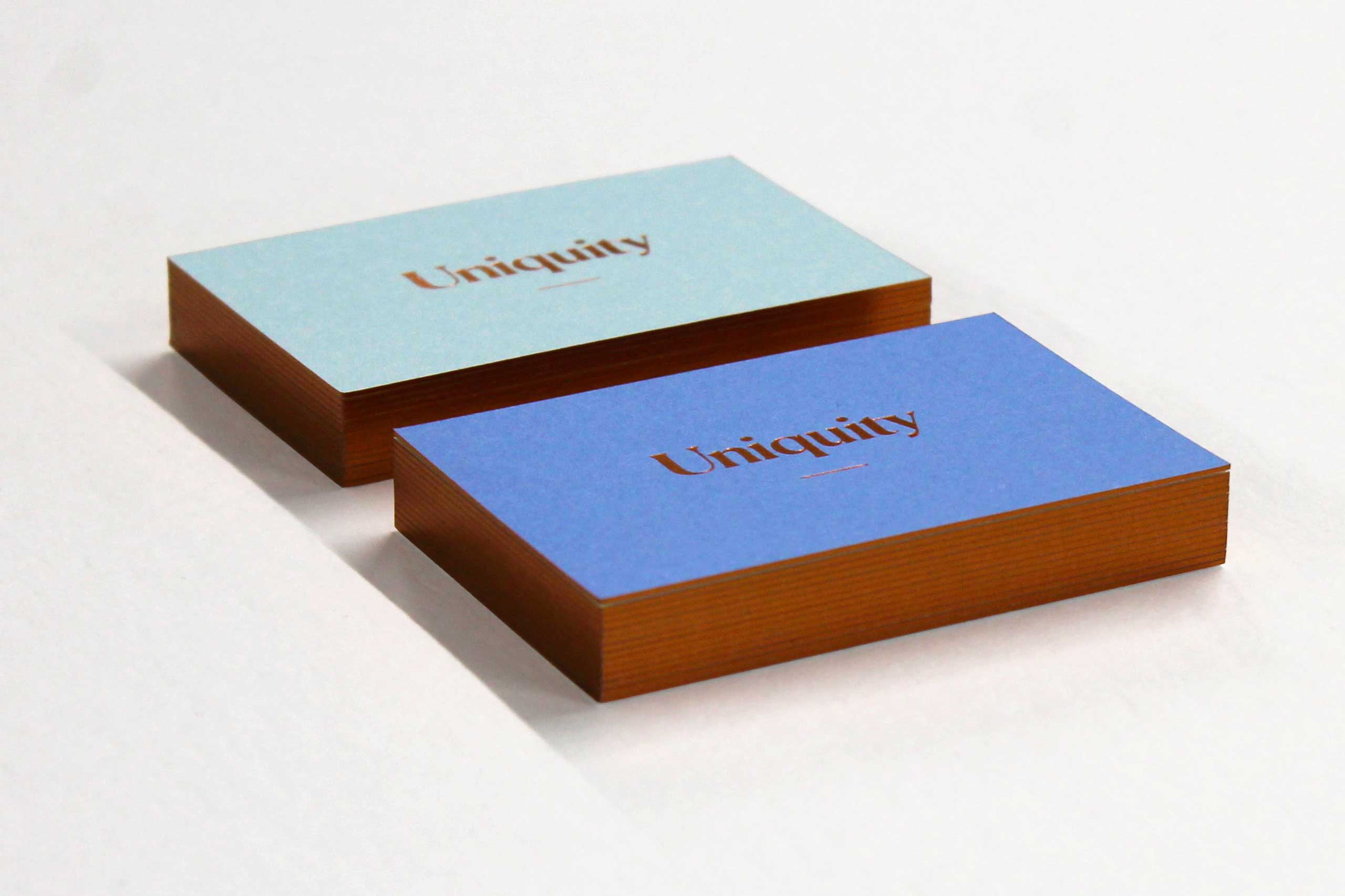 uniquity business cards with gold edging