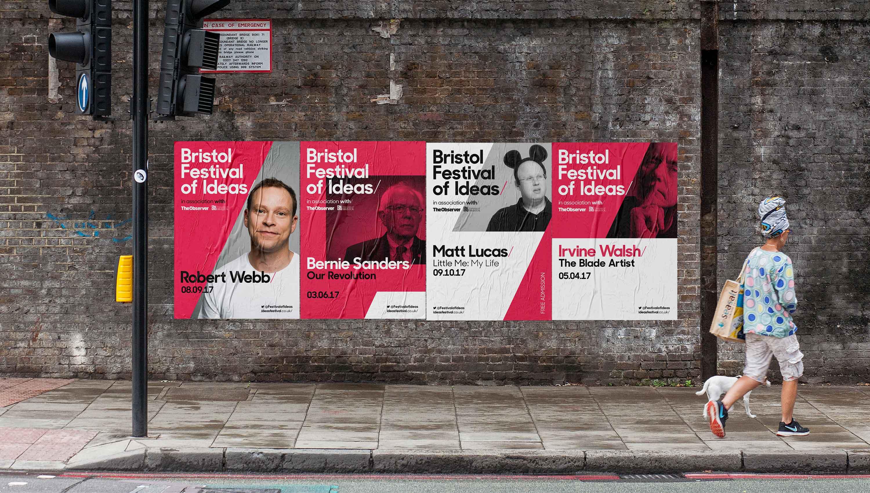 poster design bristol branding festival