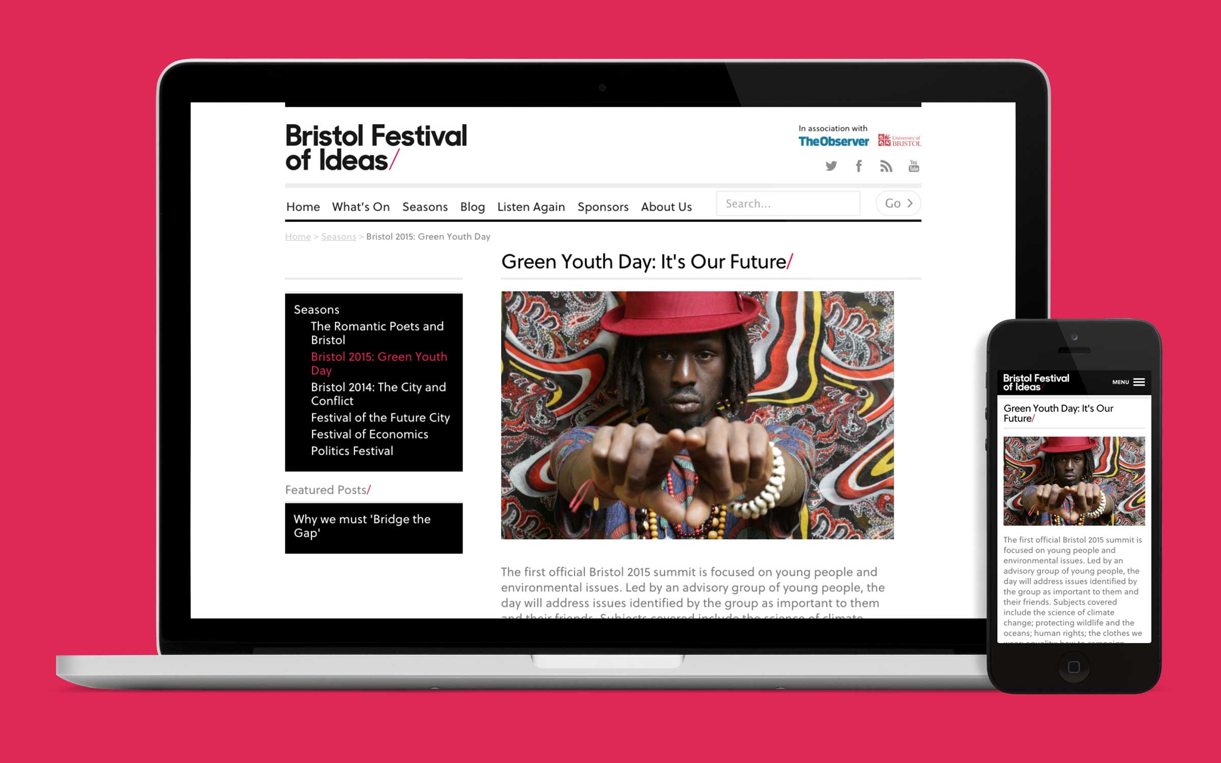 website design for bristol festival