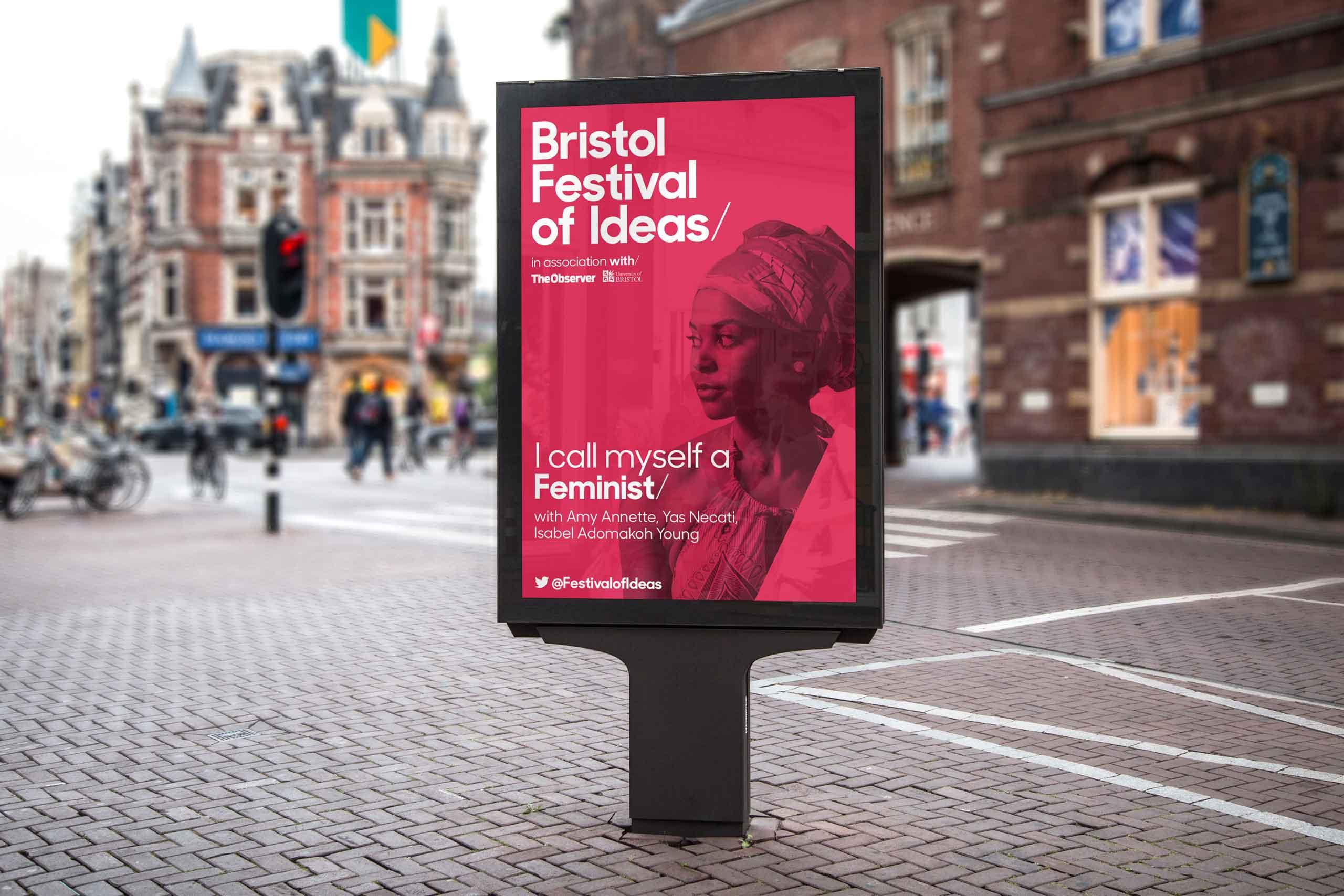 branding design signage bristol festival