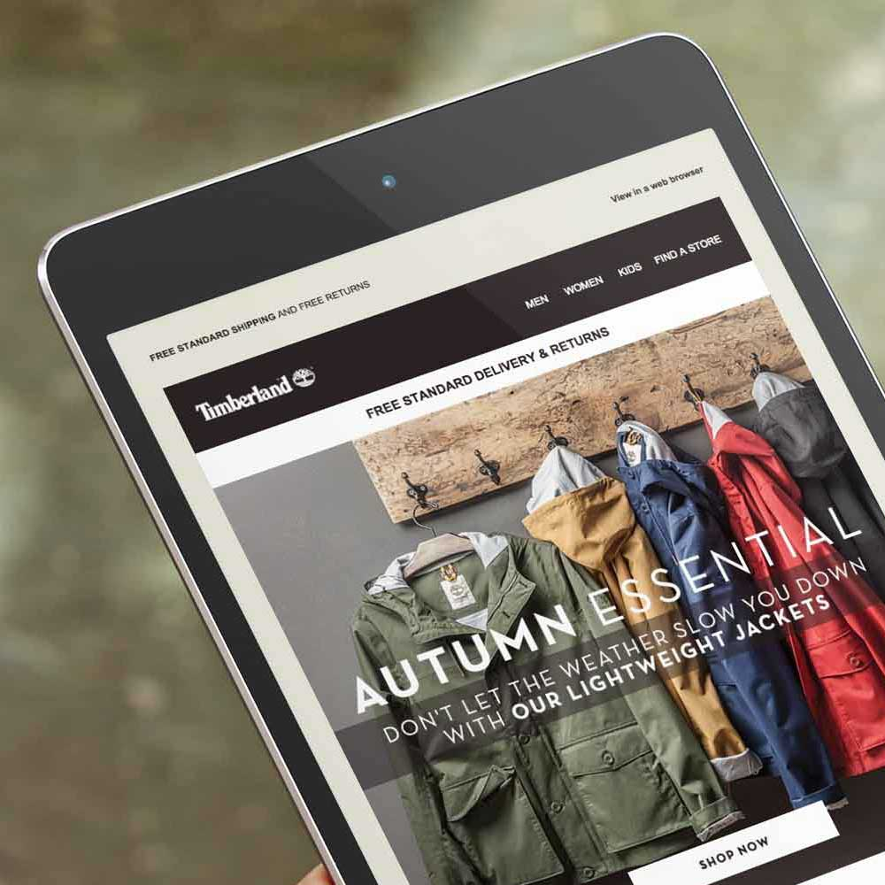 campaign design timberland jackets