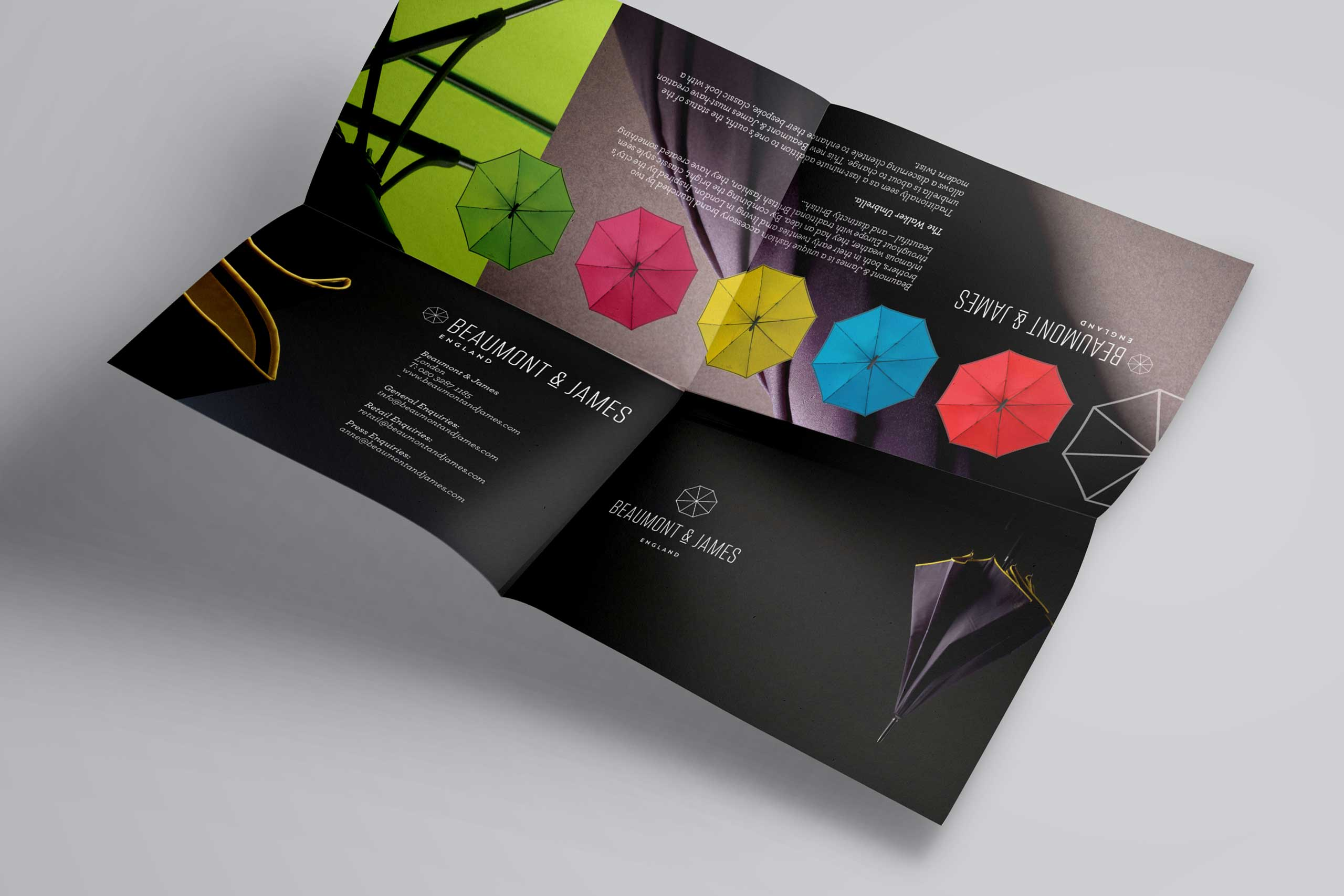 Flyer design for fashion brand