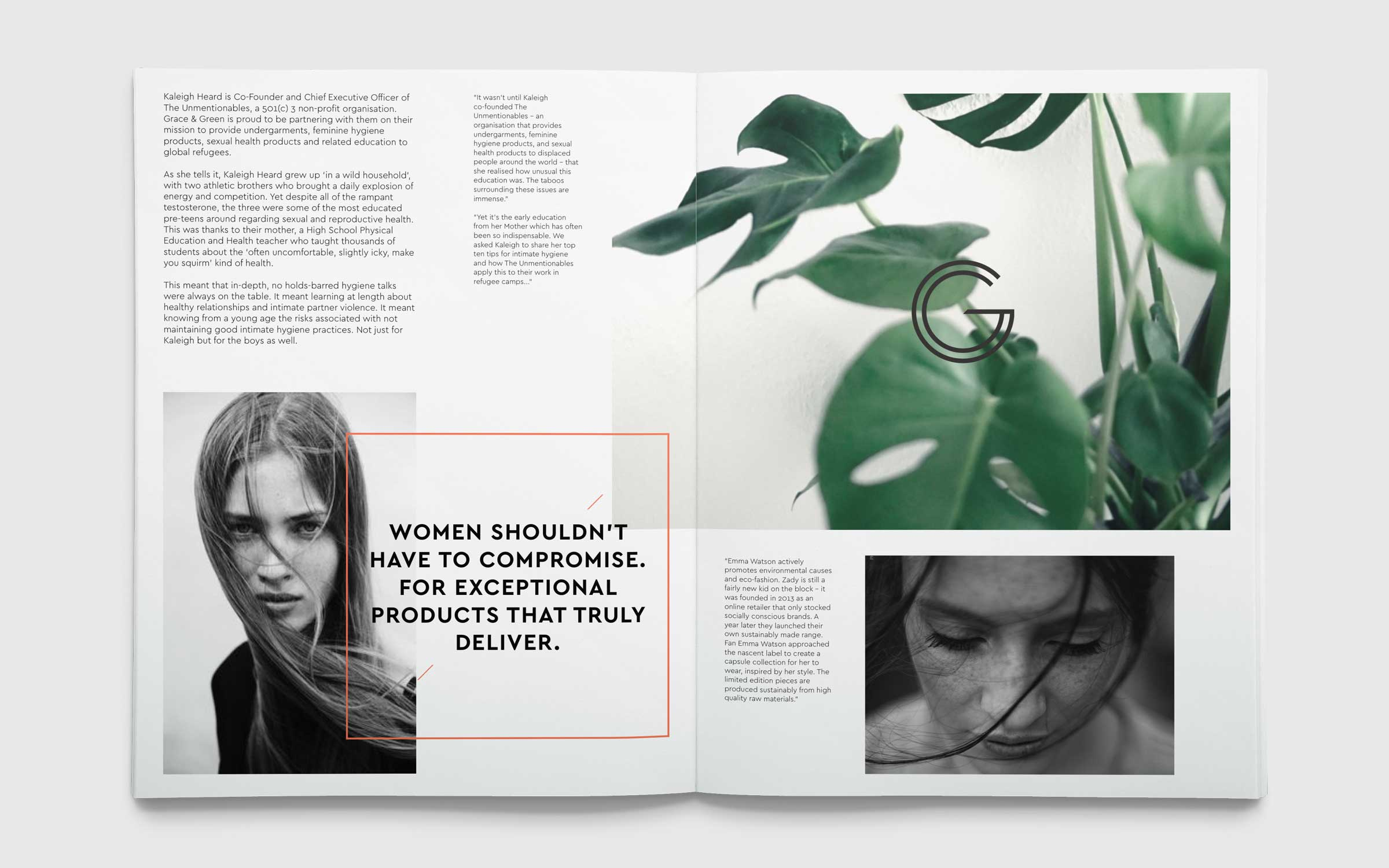 magazine concept designs for ethical company