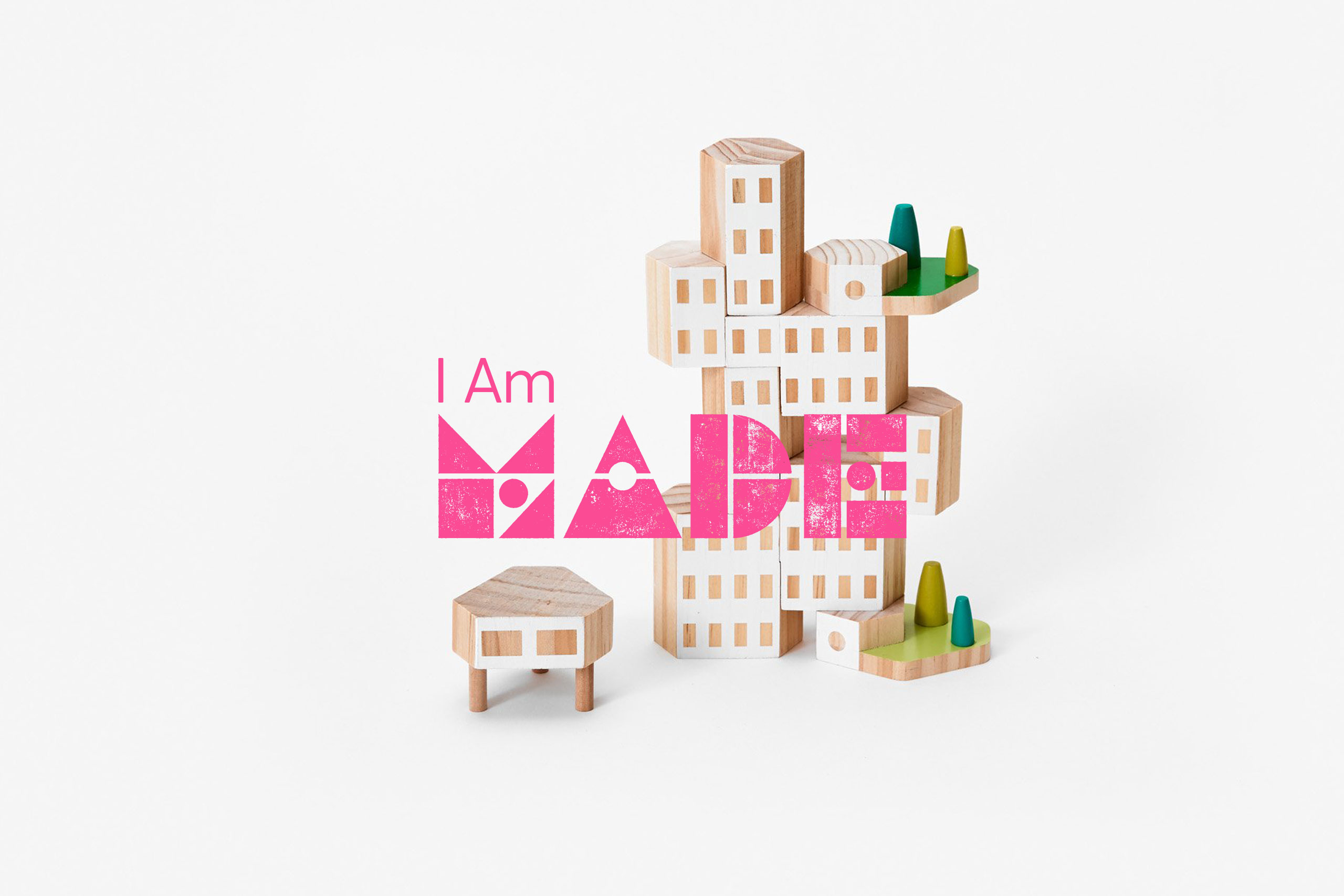 Colour shapes logomark for bristol I am made