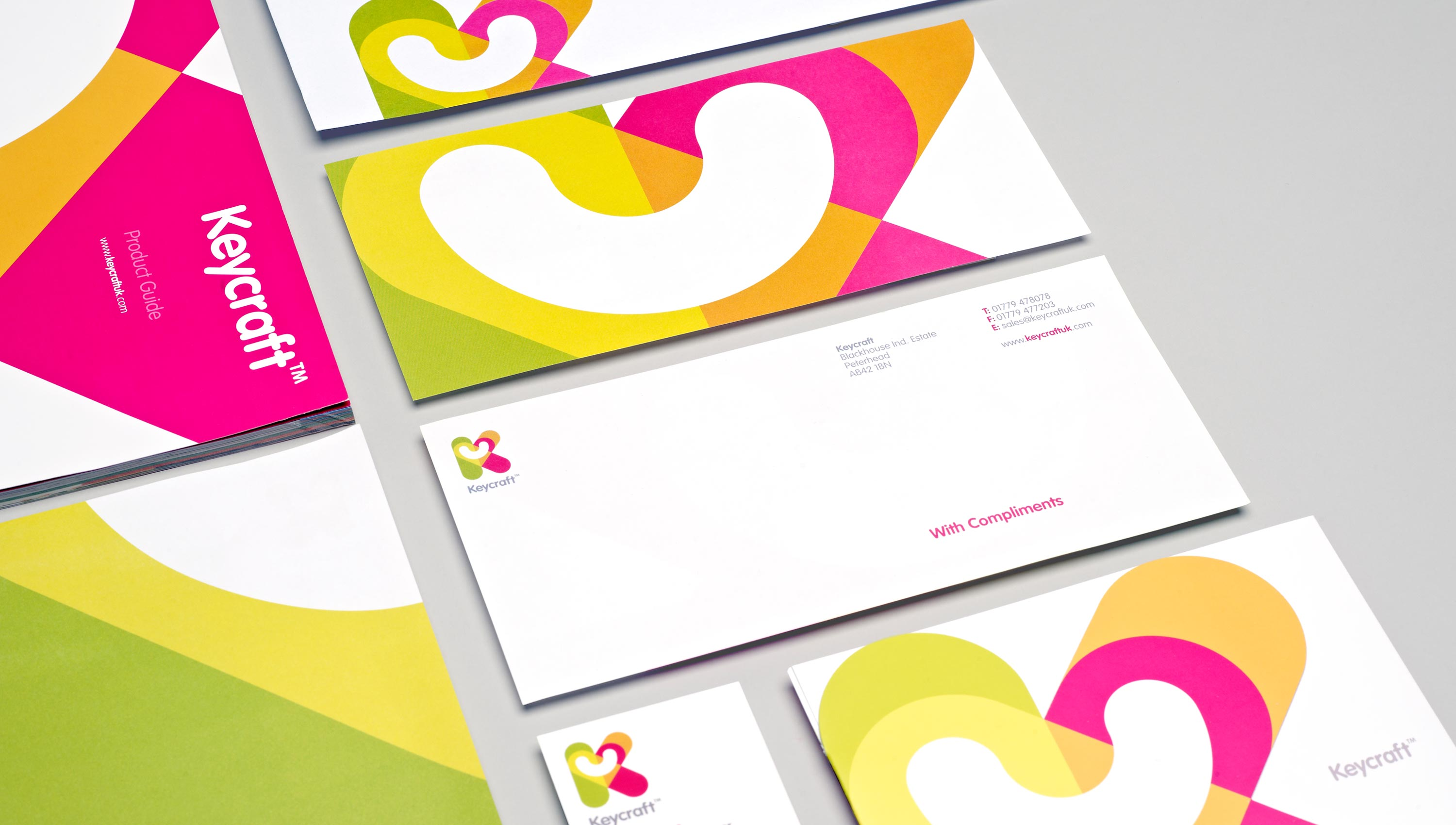 corporate stationery set for keycraft