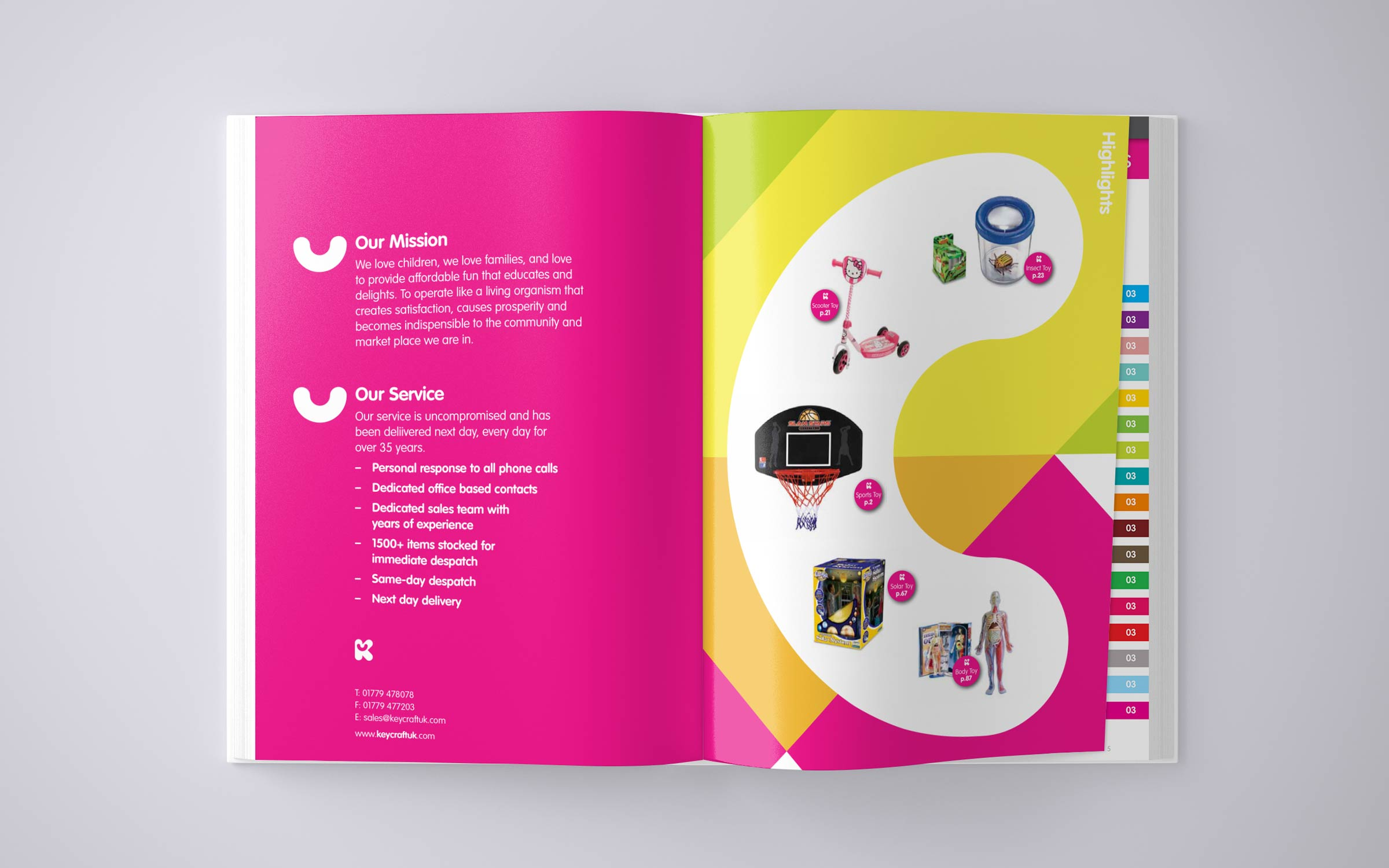 brochure design for keycraft toy