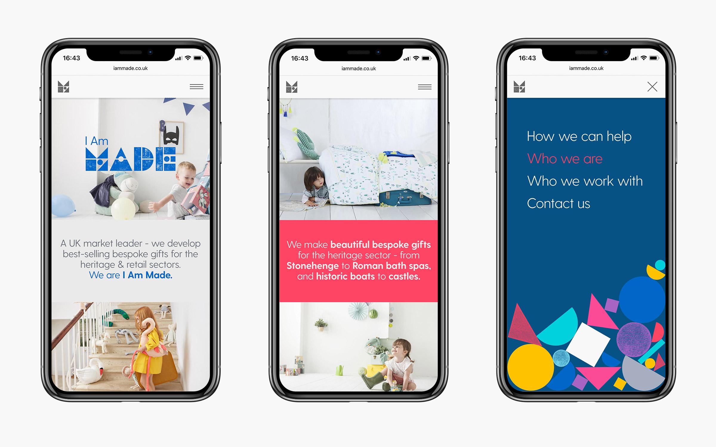 Website ui design for bristol startup