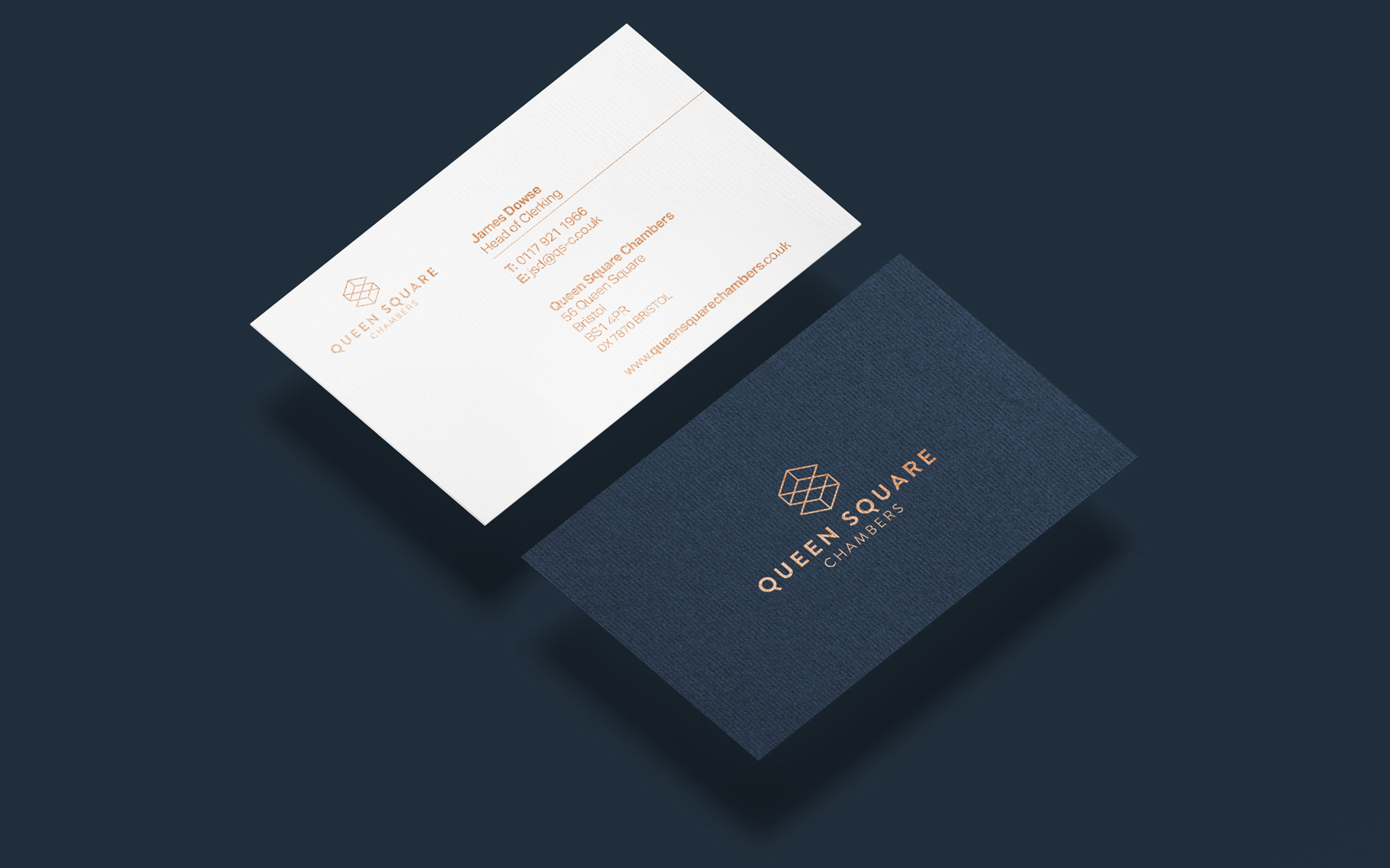 Legal business card branding