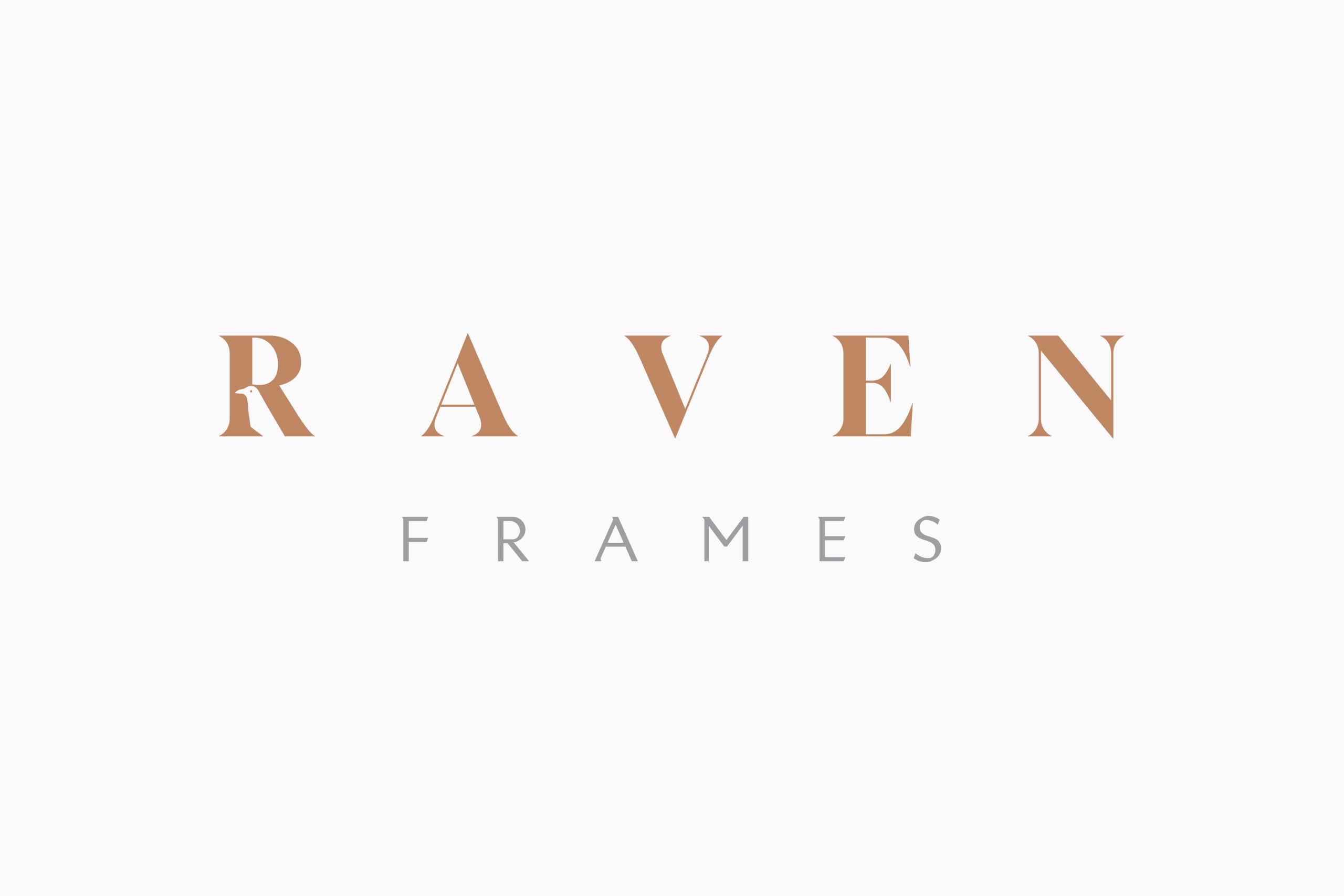 Logo design raven frames