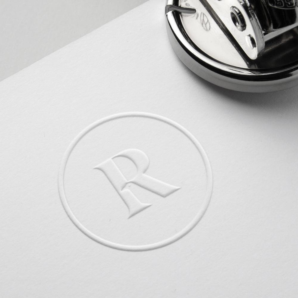 Emboss stamp design raven frames