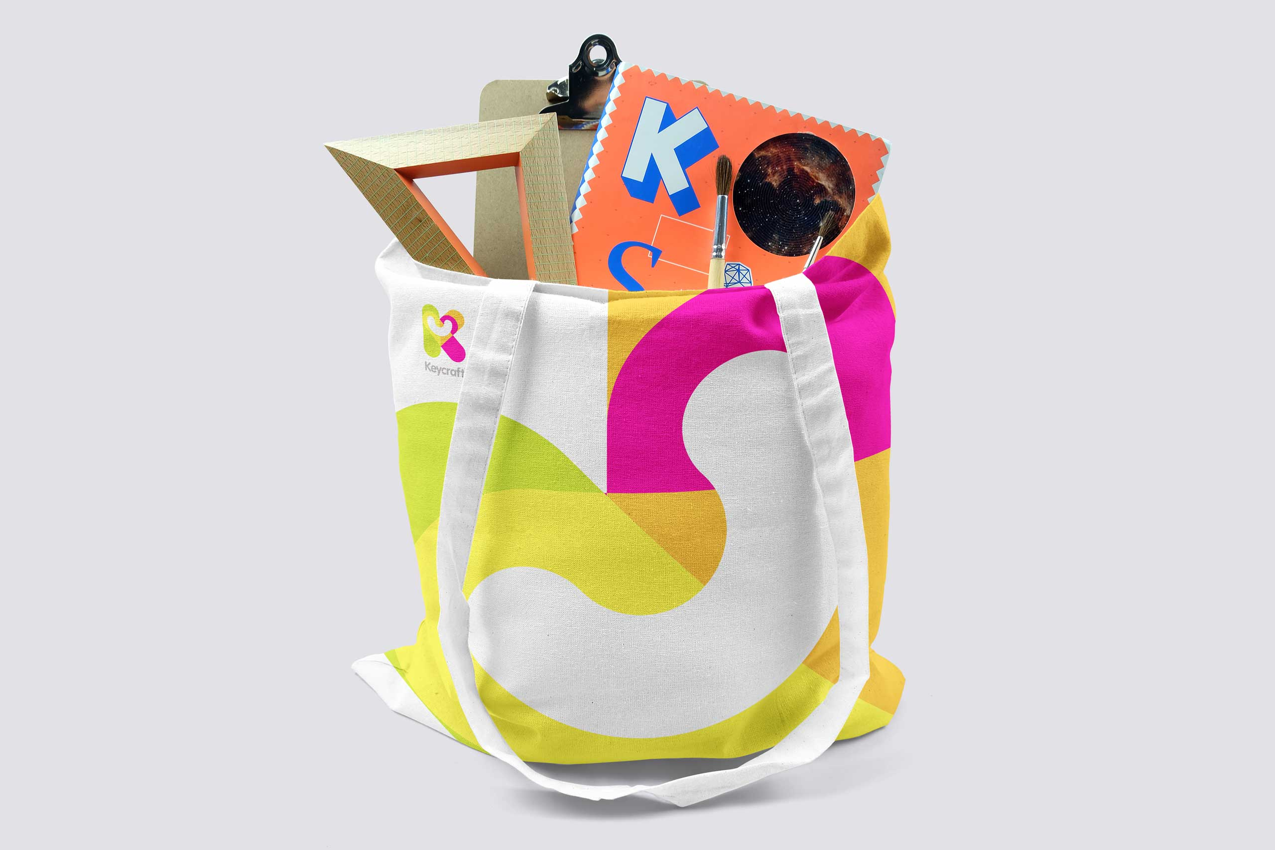 tote bag for keycraft toys branding