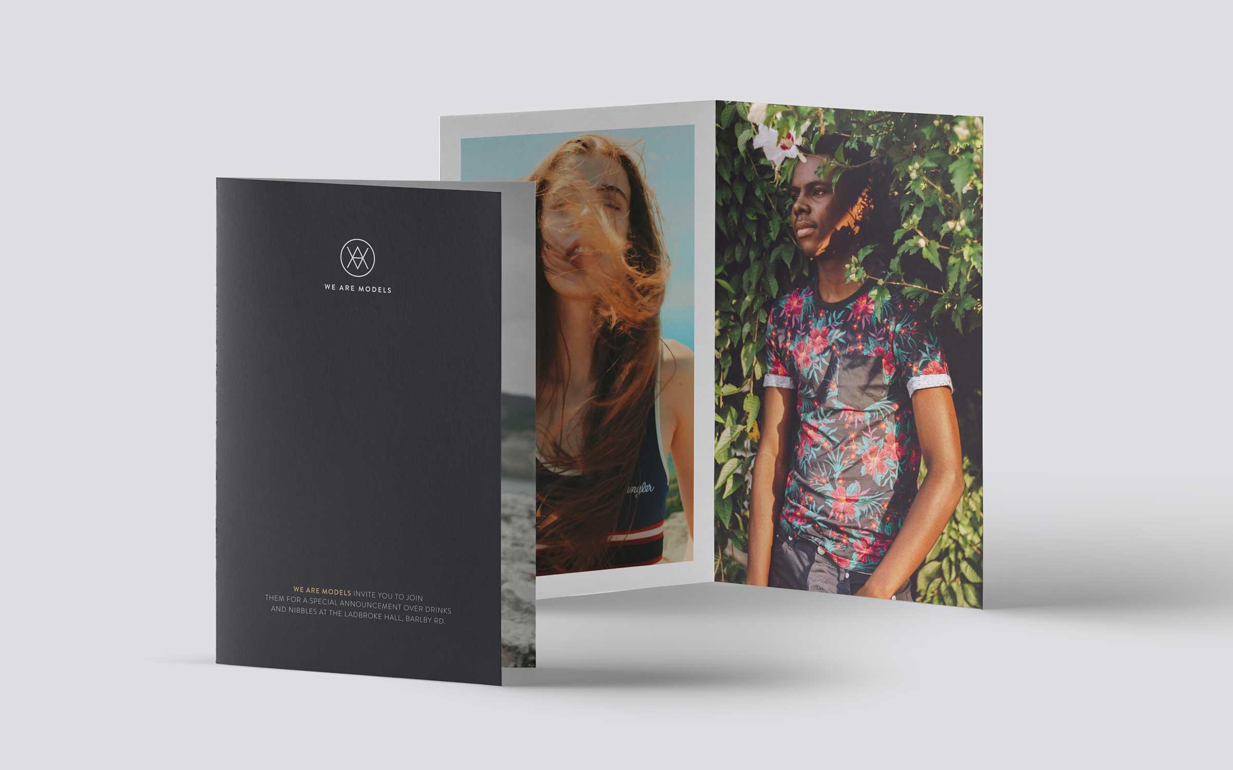 leaflet for london model agency