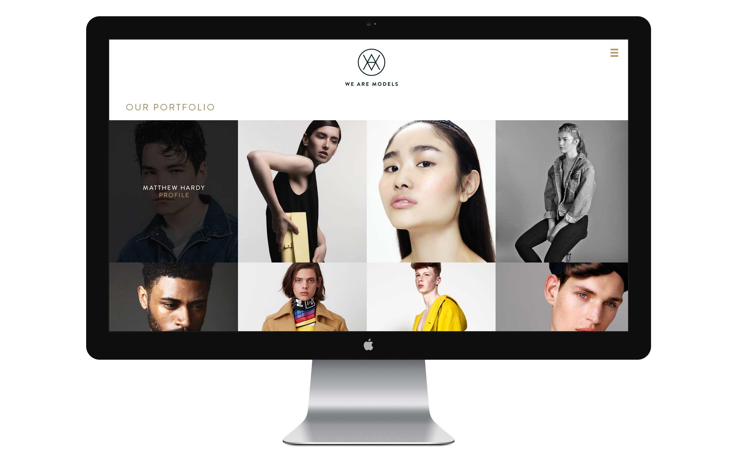 london based website design for models