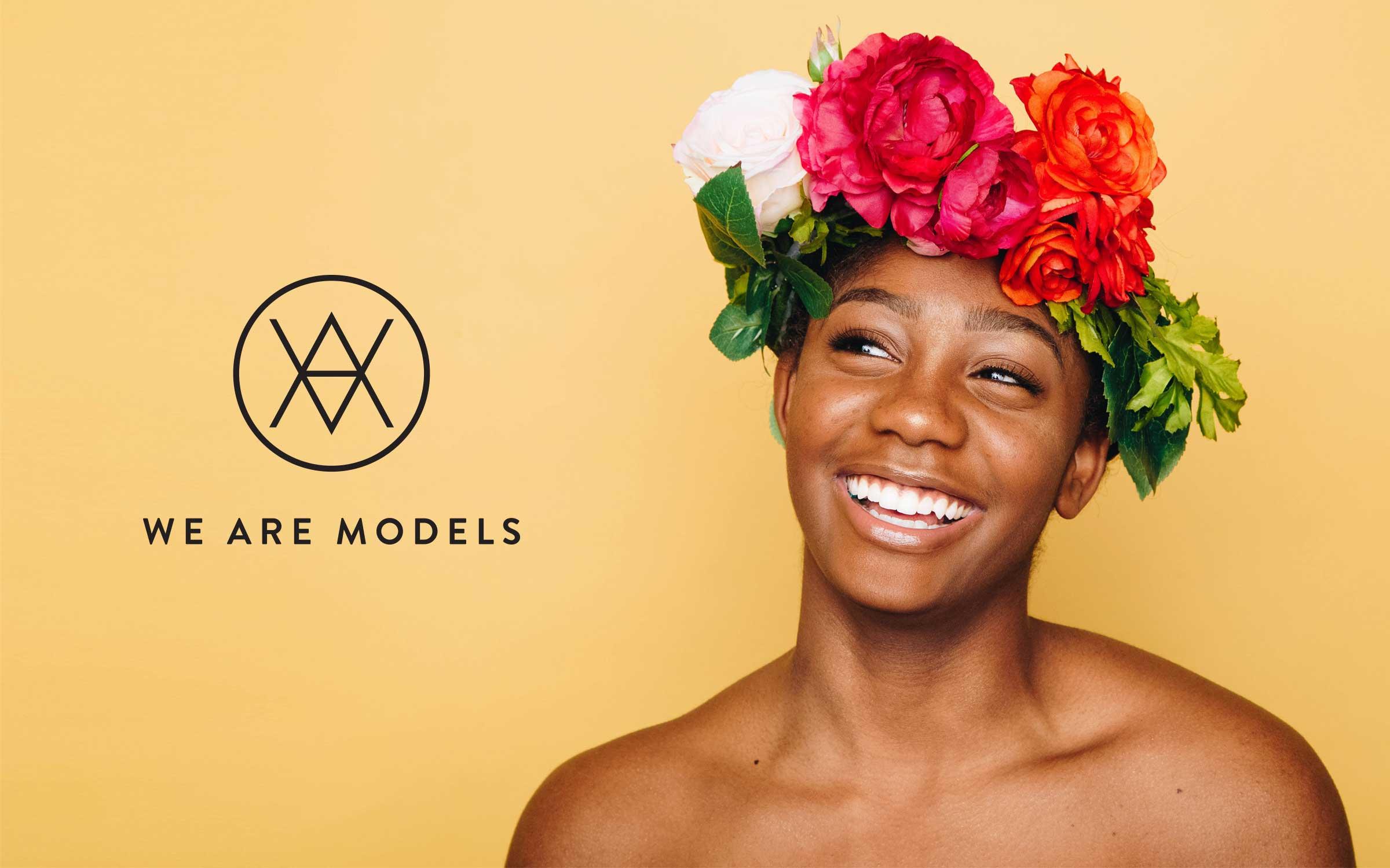 monogram logo brand for london model agency