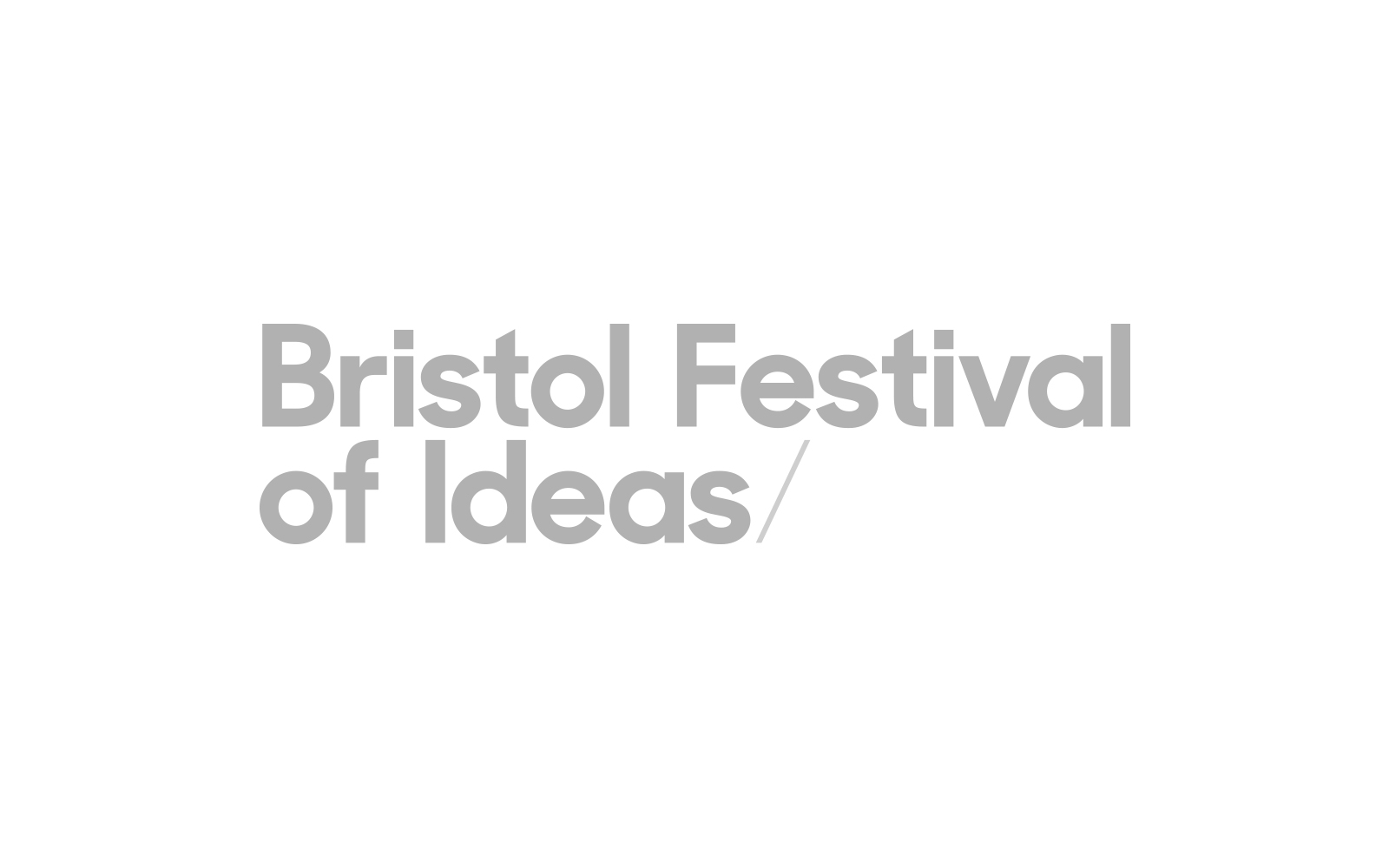 Bristol Festival of Ideas
